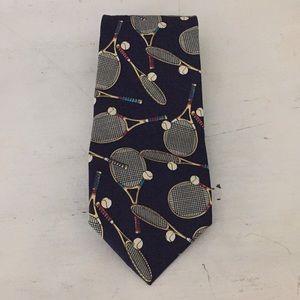 Silk tennis tie